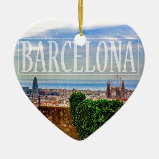 Adorno De Cerámica Ciudad de Barcelona