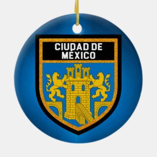 Adorno De Cerámica Ciudad de México Flag