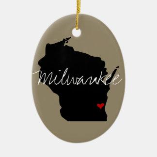 Adorno De Cerámica Ciudad de Wisconsin