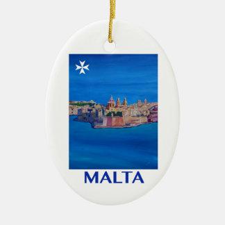 Adorno De Cerámica Ciudad RETRA de Malta La Valeta del POSTER de