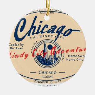 Adorno De Cerámica Ciudad ventosa de Chicago