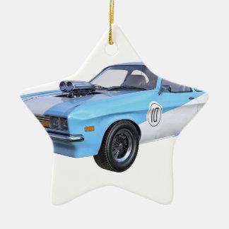 Adorno De Cerámica coche del músculo de los años 70 en azul y blanco