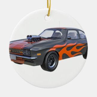 Adorno De Cerámica coche del músculo de los años 70 en llamas