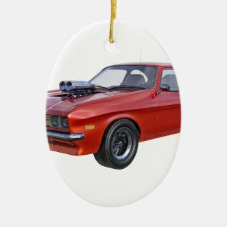 Adorno De Cerámica coche del músculo de los años 70 en rojo