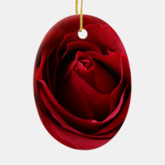 Adorno De Cerámica color de rosa de color rojo oscuro