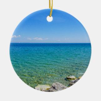 Adorno De Cerámica Colores hermosos del lago Hurón