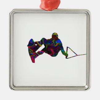 Adorno De Cerámica Colores salvajes del Wakeboarder