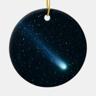 Adorno De Cerámica Cometa en cielo nocturno