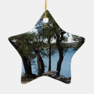 Adorno De Cerámica Comida campestre en el lago