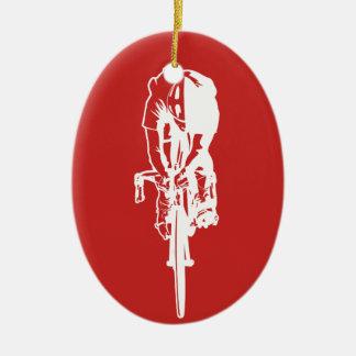 Adorno De Cerámica Competir con al ciclista