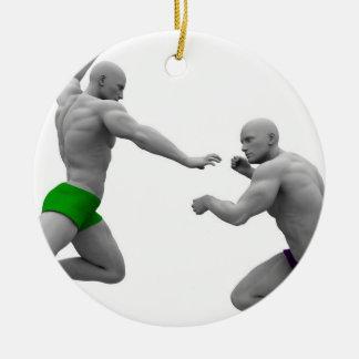 Adorno De Cerámica Concepto de los artes marciales para luchar y la