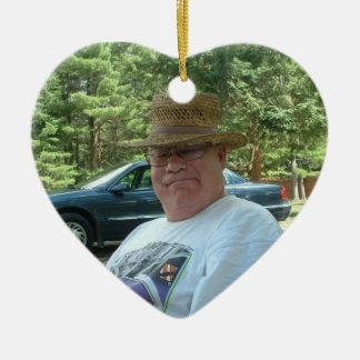 Adorno De Cerámica Corazón conmemorativo personalizado del regalo de