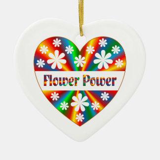 Adorno De Cerámica Corazón del flower power