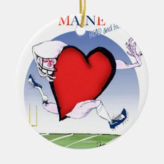 Adorno De Cerámica corazón principal de Maine, fernandes tony