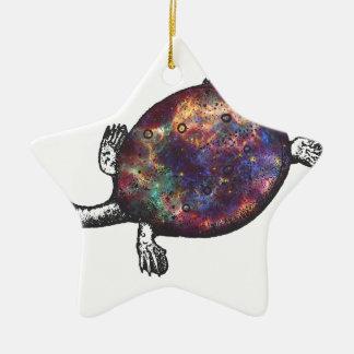 Adorno De Cerámica Cosmic turtle 3