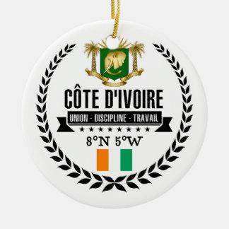 Adorno De Cerámica Costa de Marfil