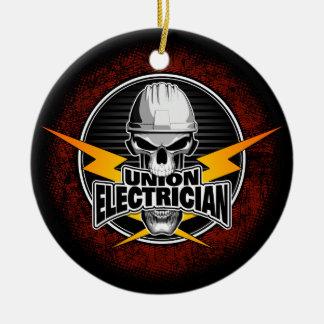 Adorno De Cerámica Cráneo del electricista de la unión