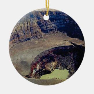 Adorno De Cerámica cráter volcánico profundo