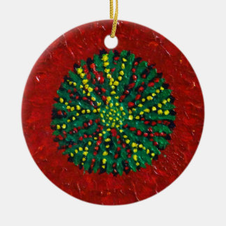 Adorno De Cerámica Crisantemo del árbol de navidad