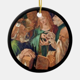 Adorno De Cerámica Cristo entre los doctores c1506
