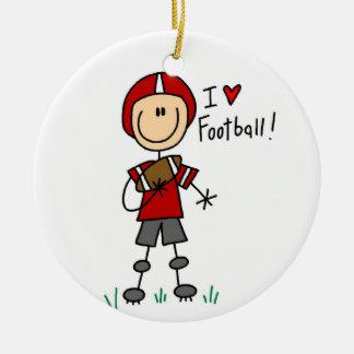Adorno De Cerámica Cuadro camisetas y regalos del palillo del fútbol