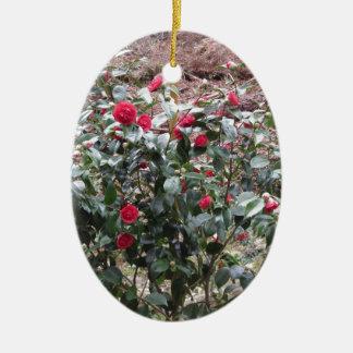 Adorno De Cerámica Cultivar antiguo de la flor del japonica de la