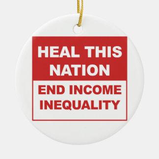 Adorno De Cerámica Cure esta nación - desigualdad de la renta del