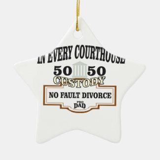 Adorno De Cerámica custodia 50 50 en cada tribunal