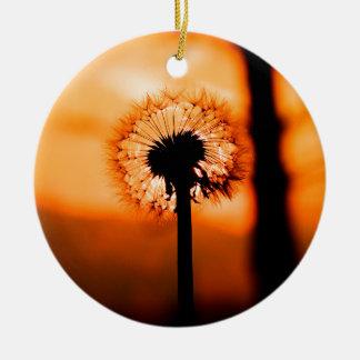 Adorno De Cerámica Dandelion Flower (Diente de León)