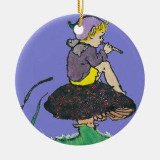 Adorno De Cerámica ~ del ilustracion del duendecillo del navidad del