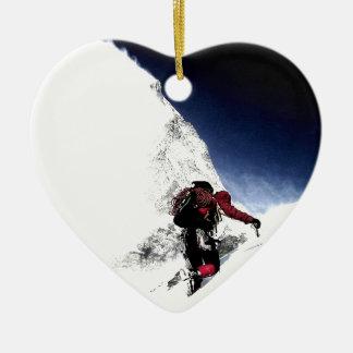 Adorno De Cerámica Deportes del extremo del escalador de montaña