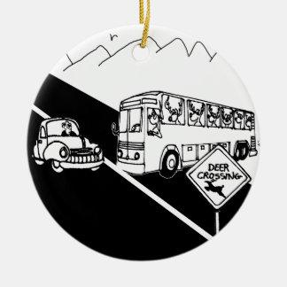 Adorno De Cerámica Dibujo animado 3251 del autobús