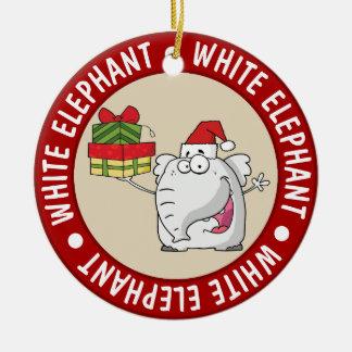 Adorno De Cerámica Dibujo animado de los regalos del gorra de Santa