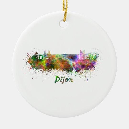 Adorno De Cerámica Dijon skyline in watercolor