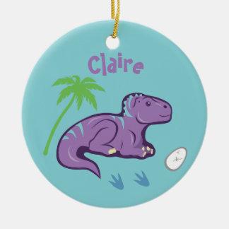 Adorno De Cerámica Dinosaurio Iguanodon del bebé