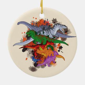 Adorno De Cerámica Dinosaurios