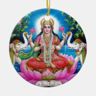 Adorno De Cerámica Diosa de Lakshmi del amor, de la prosperidad, y de