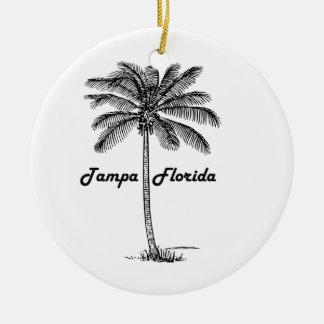 Adorno De Cerámica Diseño blanco y negro de Tampa y de la palma