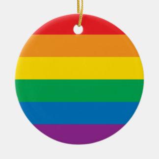 Adorno De Cerámica Diseño colorido del arco iris del orgullo el |