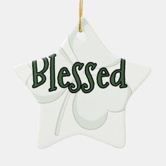 Adorno De Cerámica Diseño del día de St Patrick bendecido