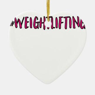 Adorno De Cerámica Diseño del levantamiento de pesas