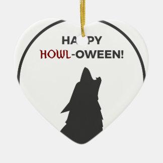 Adorno De Cerámica Diseño feliz de Halloween del hombre lobo del