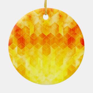 Adorno De Cerámica Diseño geométrico del cubo del resplandor solar