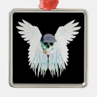 Adorno De Cerámica Diseño gótico con alas del cráneo perfecto para