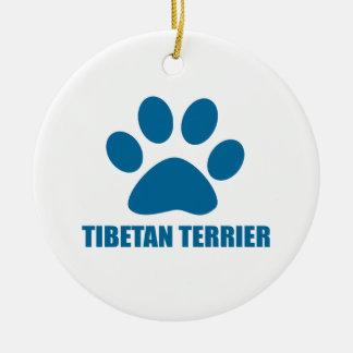 ADORNO DE CERÁMICA DISEÑOS DEL PERRO DE TERRIER TIBETANO