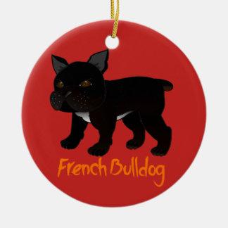 Adorno De Cerámica Dogo francés negro