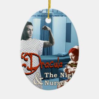 Adorno De Cerámica Drácula y la enfermera de noche