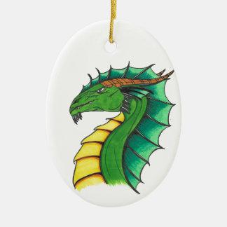 Adorno De Cerámica Dragón dibujado mano