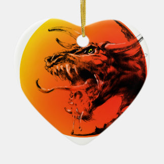 Adorno De Cerámica Dragón malvado
