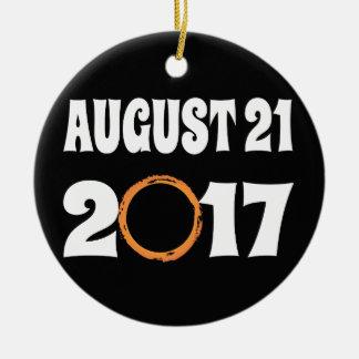 Adorno De Cerámica Eclipse solar 21 de agosto de 2017 total